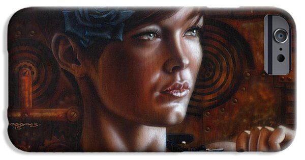 Airbrush iPhone Cases - Steampunk 2 iPhone Case by Tim  Scoggins