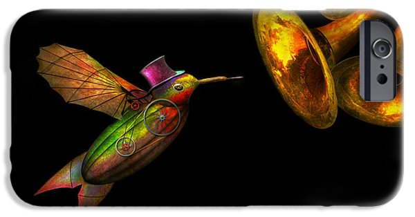 Industry iPhone Cases - Steampunk - Bird - Apodiformes Centrifigalus iPhone Case by Mike Savad