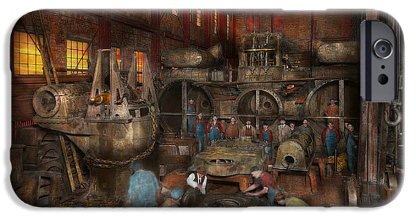Industry iPhone Cases - Steampunk - Final inspection 1915 iPhone Case by Mike Savad
