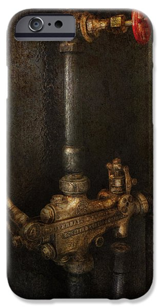 Mechanism iPhone Cases - Steampunk - Plumbing - Number 4 - Universal  iPhone Case by Mike Savad