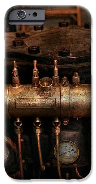 Steampunk - Plumbing - The valve matrix iPhone Case by Mike Savad