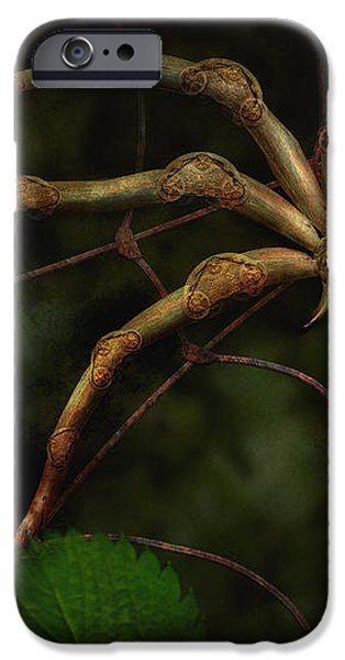 Steampunk - Spider - Arachnia Automata iPhone Case by Mike Savad