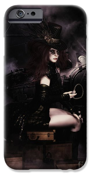 Mechanism iPhone Cases - SteampunkXpress iPhone Case by Shanina Conway