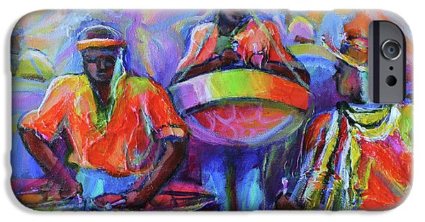 Culture iPhone Cases - Steel Pan Carnival iPhone Case by Cynthia McLean