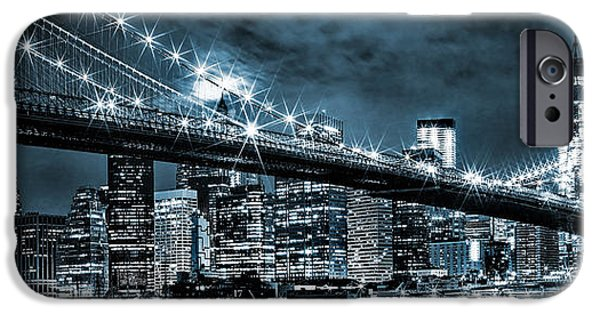 Financial District iPhone Cases - Steely Skyline iPhone Case by Az Jackson