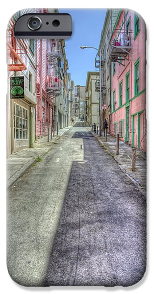 San Francisco Street iPhone Cases - Steep Street iPhone Case by Scott Norris