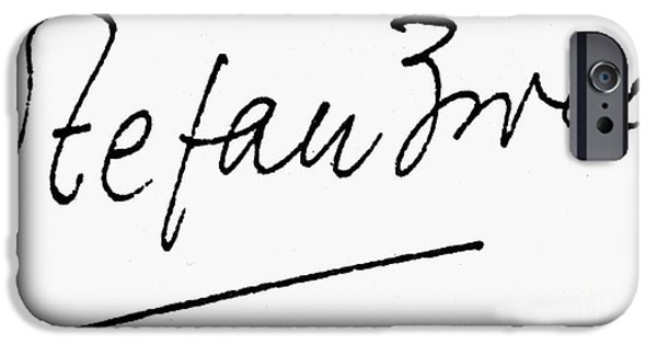 Autographed iPhone Cases - Stefan Zweig (1881-1942) iPhone Case by Granger