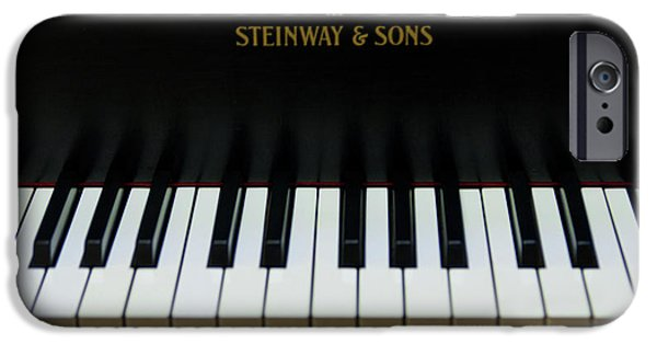 Piano iPhone Cases - Steinway Grand Two iPhone Case by Sam Hymas