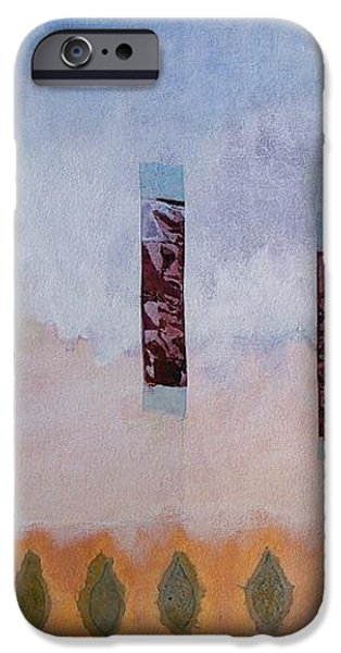 Abstract Digital Paintings iPhone Cases - Stele iPhone Case by Matteo TOTARO