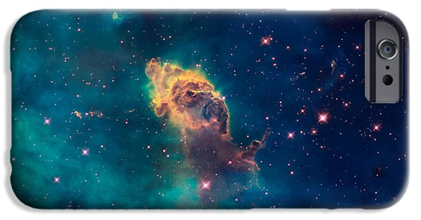 Jet Star iPhone Cases - Stellar Jet in the Carina Nebula iPhone Case by Space Art Pictures