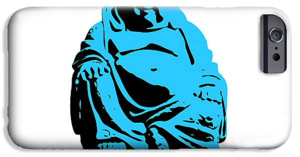 Buddhist iPhone Cases - Stencil Buddha iPhone Case by Pixel Chimp