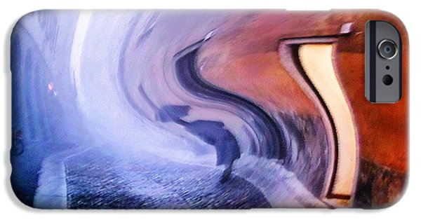 Walker Digital Art iPhone Cases - Step Into the Door of Infinity iPhone Case by Jenny Rainbow