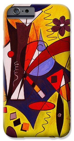 Geometric Shape iPhone Cases - Step Lively Now iPhone Case by Ruth Palmer