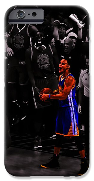 American Professional Basketball Player iPhone Cases - Stephen Curry Sweet Victory iPhone Case by Brian Reaves
