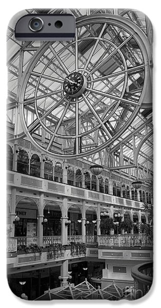 Town iPhone Cases - Stephens Green Shopping Centre Dublin iPhone Case by Christiane Schulze Art And Photography