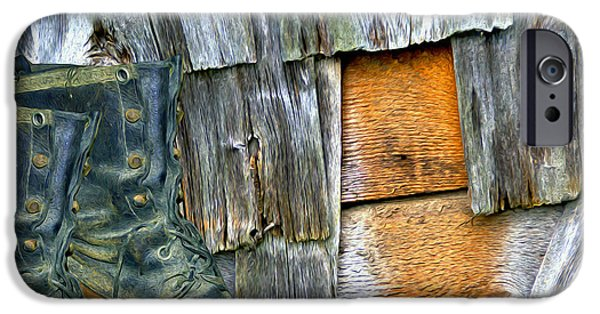Shed Mixed Media iPhone Cases - Stepping Out iPhone Case by Lynda Lehmann