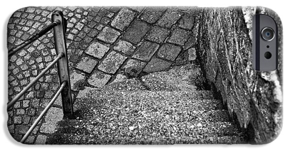Stone Steps iPhone Cases - Steps of History in Salzburg iPhone Case by John Rizzuto