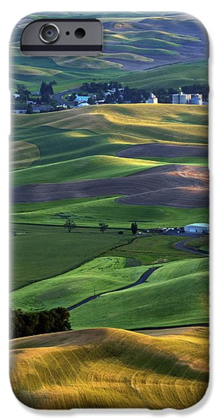 Crops iPhone Cases - Steptoe Shadows iPhone Case by Mike  Dawson