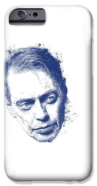 Reservoir Dogs iPhone Cases - Steve Buscemi iPhone Case by Chad Lonius