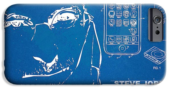 Innovative iPhone Cases - Steve Jobs iPhone Patent Artwork iPhone Case by Nikki Marie Smith