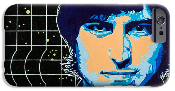Chin On Hand Paintings iPhone Cases - Steve Jobs iPhone Case by Joe Ciccarone