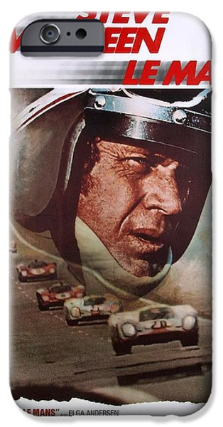 Porsche 917k iPhone Cases - Steve McQueen Le mans iPhone Case by Nomad Art And  Design