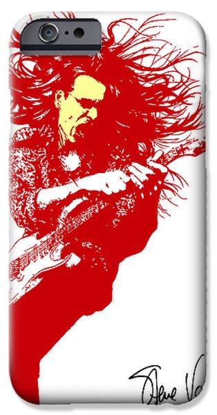 Steve Vai No.01 iPhone Case by Caio Caldas