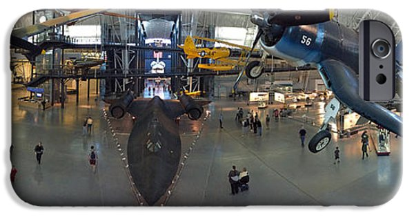 Smithsonian iPhone Cases - Steven F. Udvar-Hazy Center Panorama iPhone Case by Dan Myers