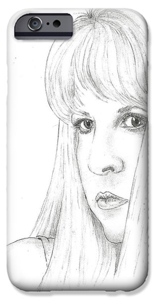 Steven White iPhone Cases - Stevie  iPhone Case by Steven White