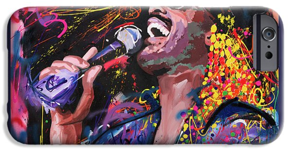 Recently Sold -  - Red Abstract iPhone Cases - Stevie Wonder iPhone Case by Richard Day