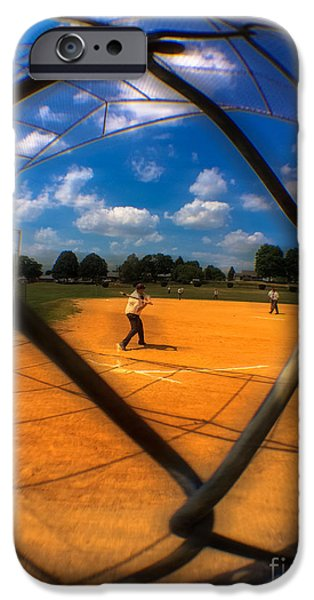 Baseball Uniform iPhone Cases - Stickball  iPhone Case by Steven  Digman