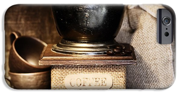 Stainless Steel iPhone Cases - Stiill life with Antique coffee grinder iPhone Case by Natalia Klenova