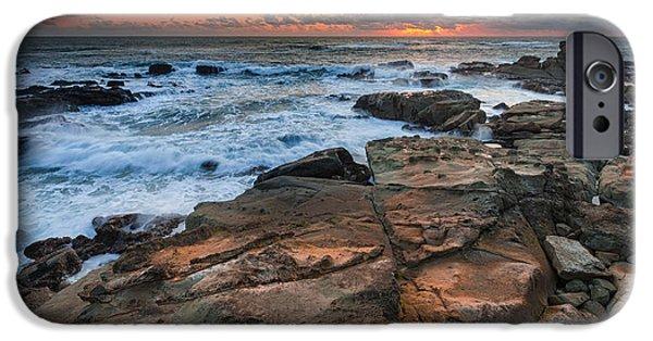 Ocean Sunset iPhone Cases - Still Golden iPhone Case by Robert Bynum
