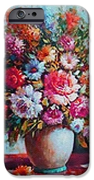 Business Pastels iPhone Cases - Still-Life Crations Catus 1 no. 4 CI H B iPhone Case by Gert J Rheeders