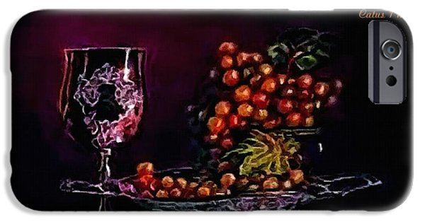 Business Pastels iPhone Cases - Still-Life creations Catus 1 no. 6 H A iPhone Case by Gert J Rheeders