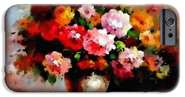 Business Pastels iPhone Cases - Still-Life Creations Catus 1 no. Five 5 H B iPhone Case by Gert J Rheeders