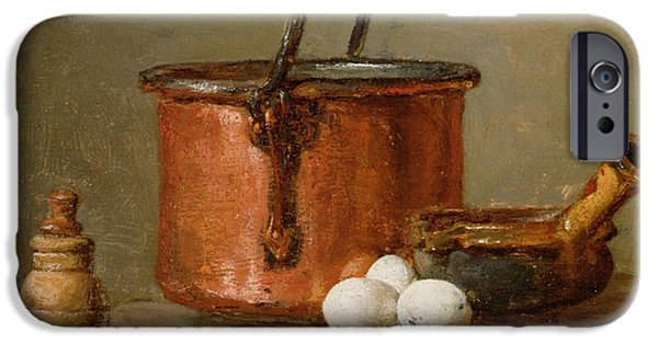 Still Life Photographs iPhone Cases - Still Life iPhone Case by Jean-Baptiste Simeon Chardin