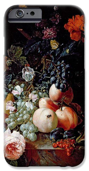 Apple iPhone Cases - Still Life  iPhone Case by Johann Amandus Winck