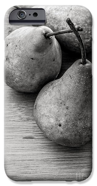 Pears iPhone Cases - Still Life of Three Pears iPhone Case by Edward Fielding