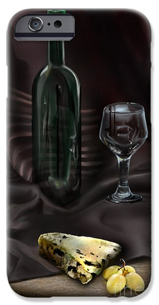 Table Wine iPhone Cases - Still Life Study iPhone Case by Reggie Duffie