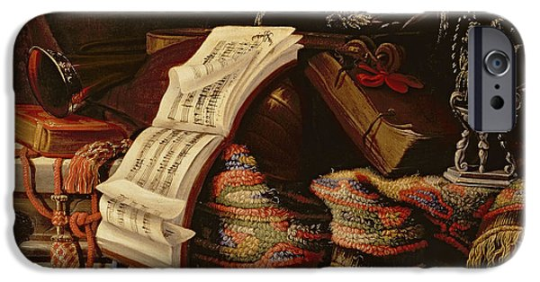 Maltese iPhone Cases - Still Life with a Book of Sheet Music iPhone Case by Francesco Fieravino