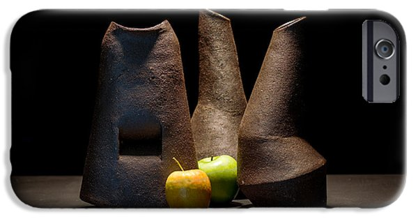 Still Life Ceramics iPhone Cases - Still Life with Apples iPhone Case by William Sulit