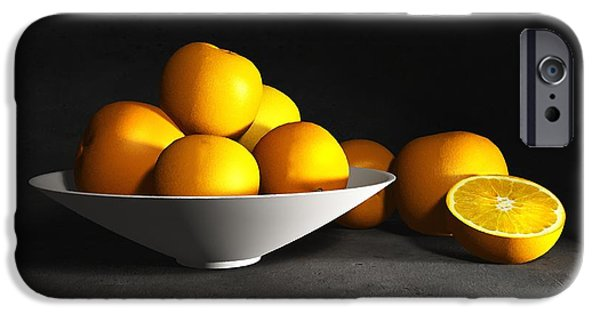Tangerine iPhone Cases - Still Life with Oranges iPhone Case by Cynthia Decker