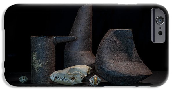 Still Life Ceramics iPhone Cases - Still Life with Skulls iPhone Case by William Sulit