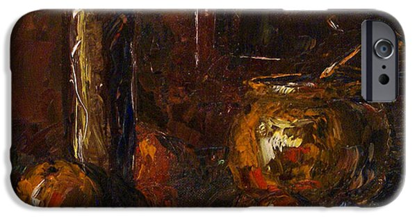 Pallet Knife Paintings iPhone Cases - Still iPhone Case by Michael Lang