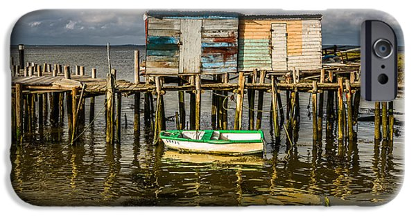 Boat iPhone Cases - Stilt Houses In Historic Pier I iPhone Case by Marco Oliveira