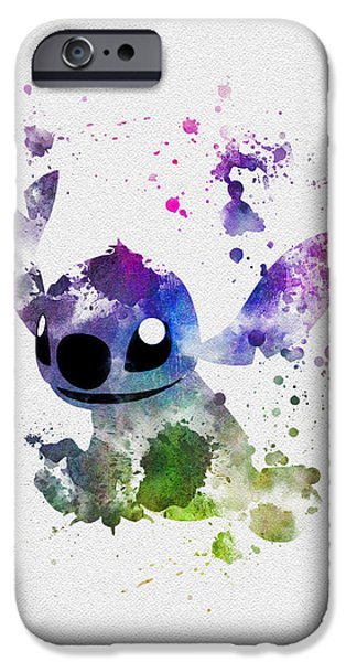 Animation iPhone Cases - Stitch iPhone Case by Rebecca Jenkins