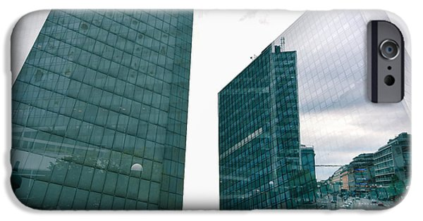Business Photographs iPhone Cases - Stockholm Skyscrapers iPhone Case by Marcus Karlsson Sall