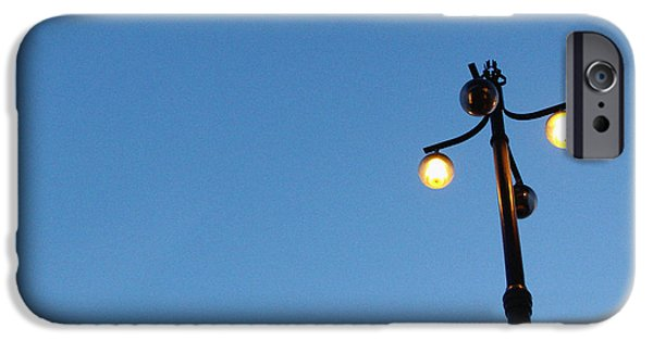 Street Mixed Media iPhone Cases - Stockholm Street Lamp iPhone Case by Linda Woods