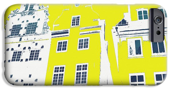 Buildings Mixed Media iPhone Cases - Stockholm Windows iPhone Case by Linda Woods